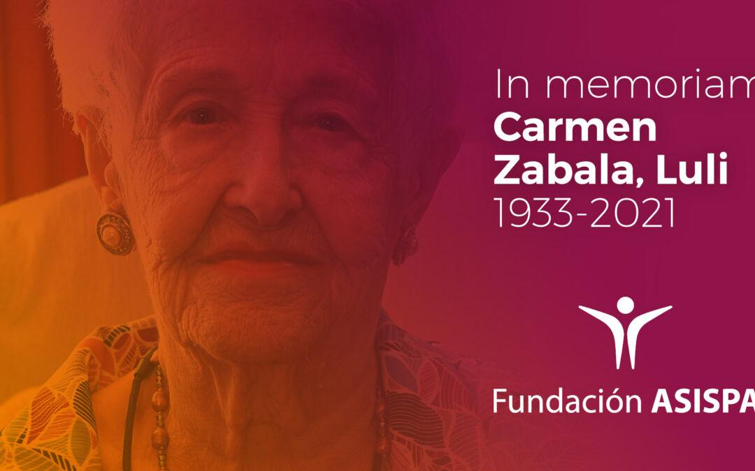 Fallece Carmen Zabala, fundadora de ASISPA