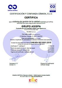 certificado gestión de la calidad