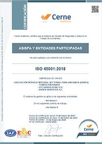 iso 45001 Fundacion ASISPA